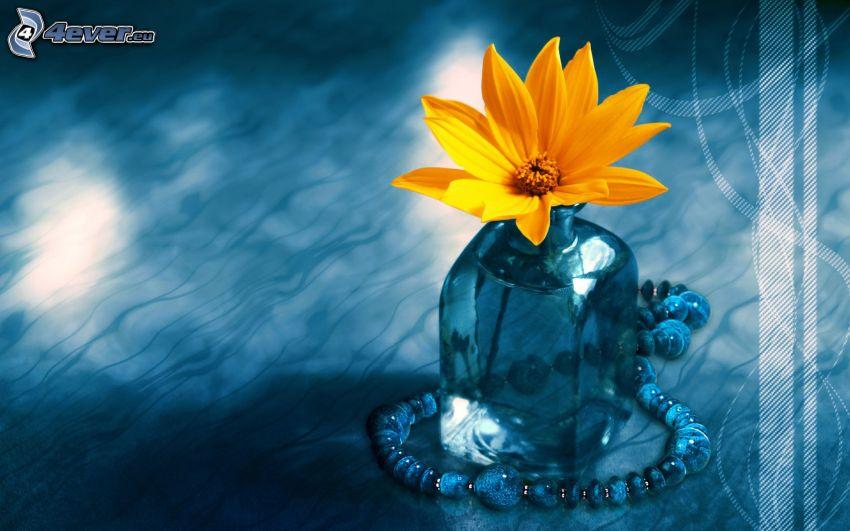 blomma i vas, halsband
