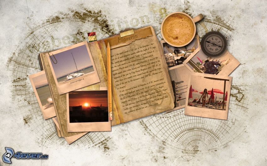 brev, foton, minnen