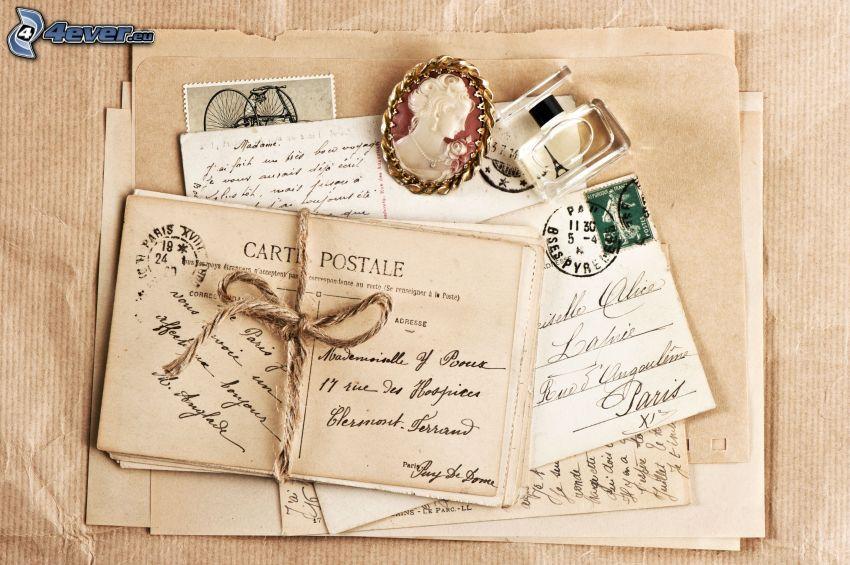 brevpapper, post