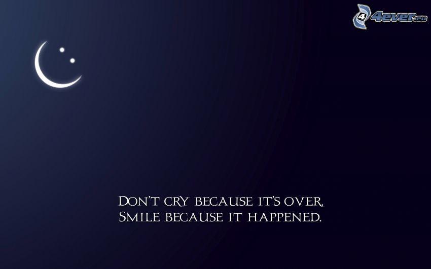 citat, gråt, leende, smiley