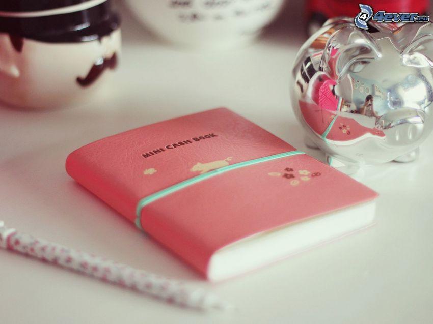 dagbok, gris