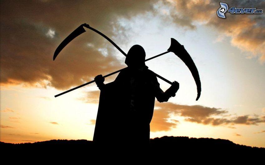 Döden, silhuett