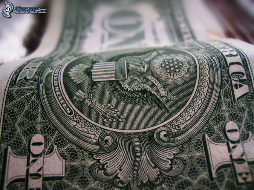 dollar, sedel, pengar