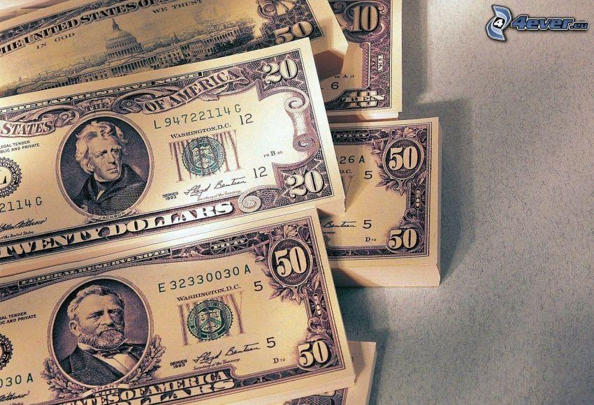dollar, sedlar