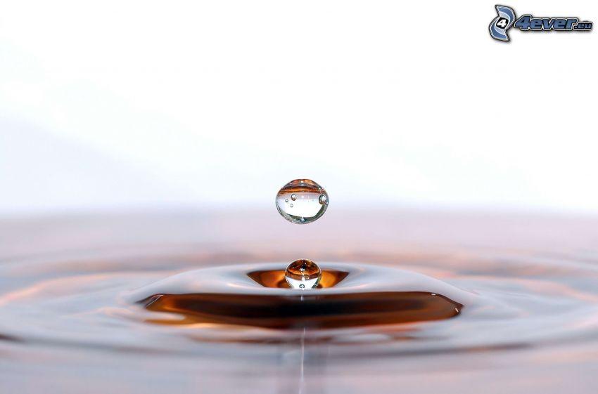 droppande, vattendroppar