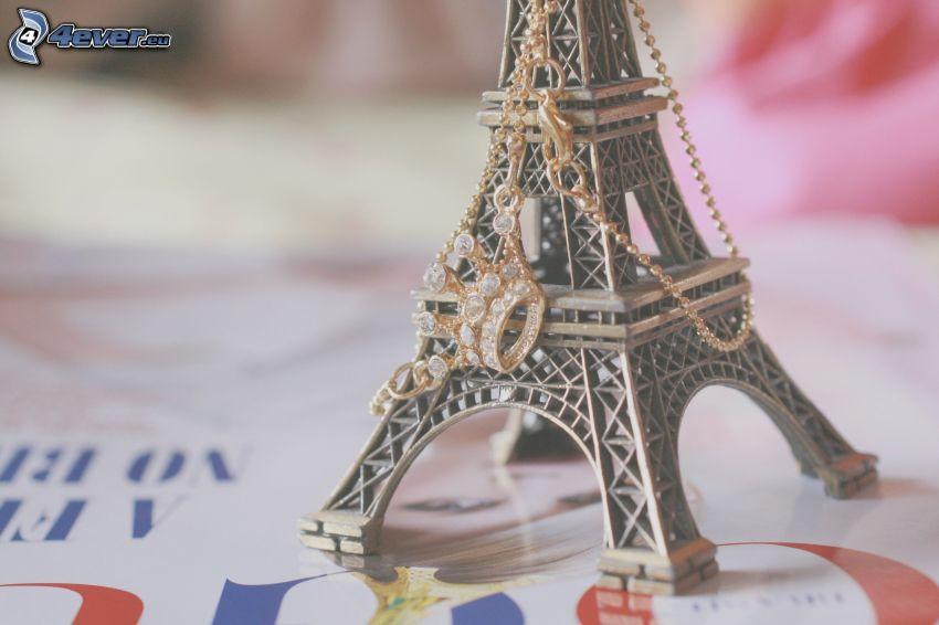 Eiffeltornet, hängsmycke, krona
