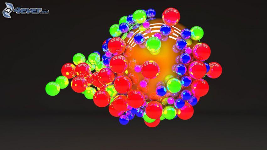 färggranna bubblor