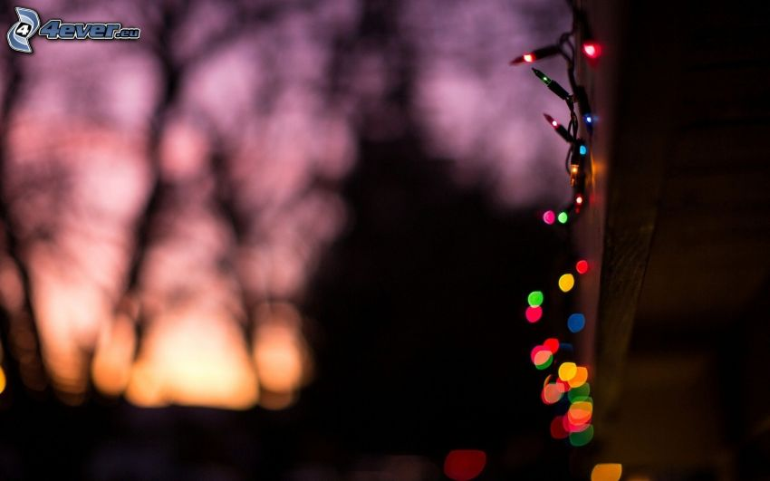 färggranna ljus