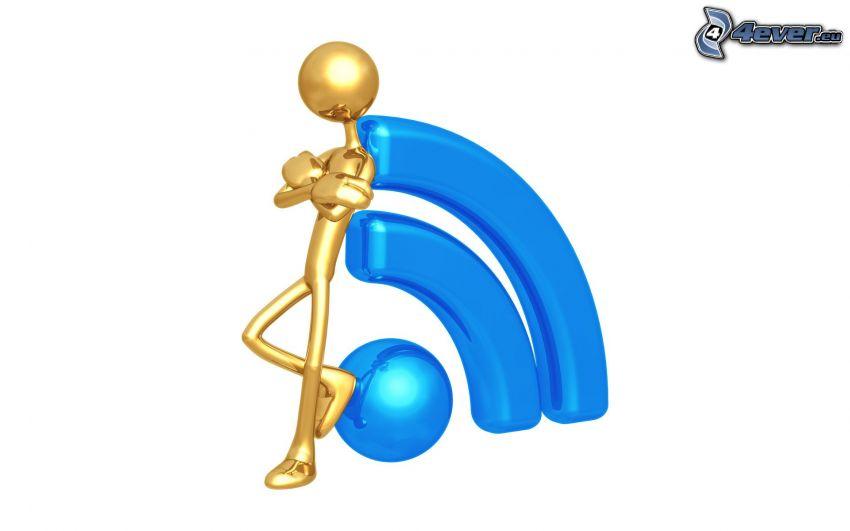 figur, logo, RSS