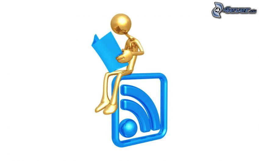 figur, RSS, logo, skrivblock