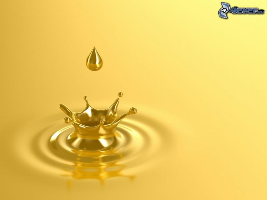 gul färg, droppande, droppe