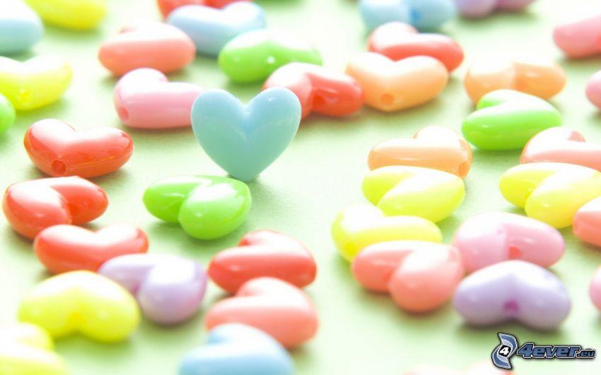 hjärtan, pärlor