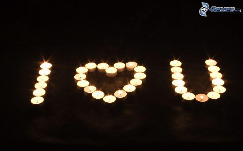 I love you, ljus