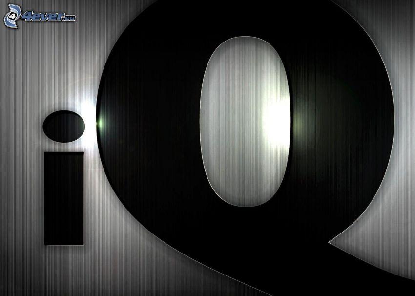 iQ, bokstäver