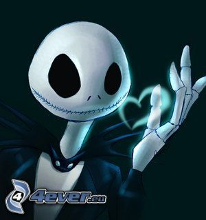 Jack Skellington, skelett, hjärta, The Nightmare Before Christmas