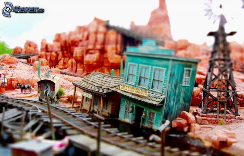 järnvägsstation, miniatyr