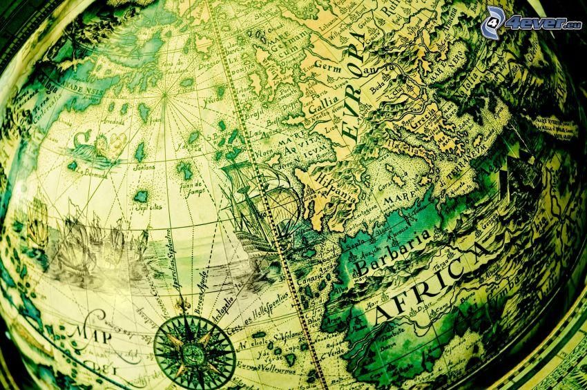 jordklot, världskarta
