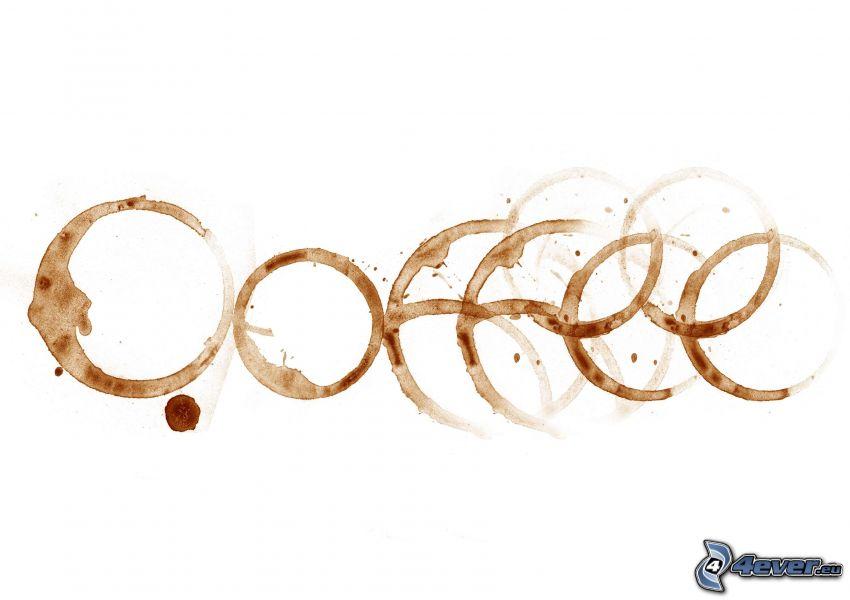 kaffe, fläck