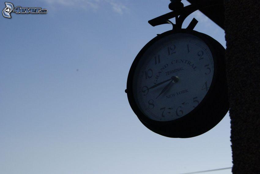 klocka, tid, himmel