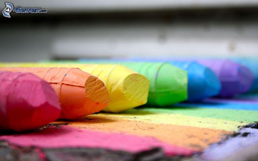 kritor, färgat