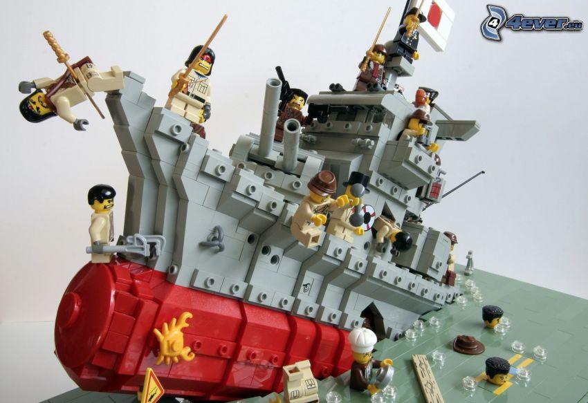Lego, båt, figurer