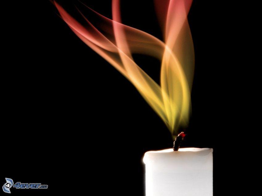 ljus, flamma