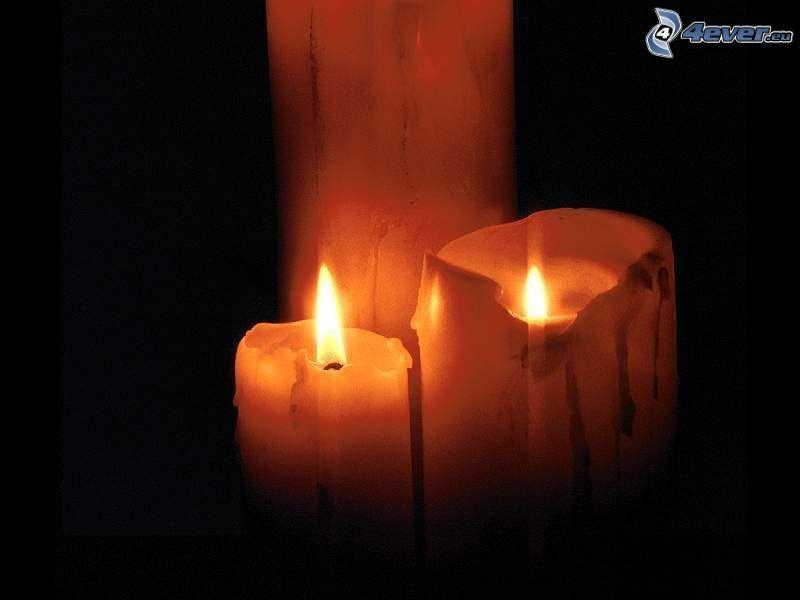 ljus, mörker, eld