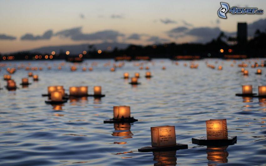 ljus på vatten