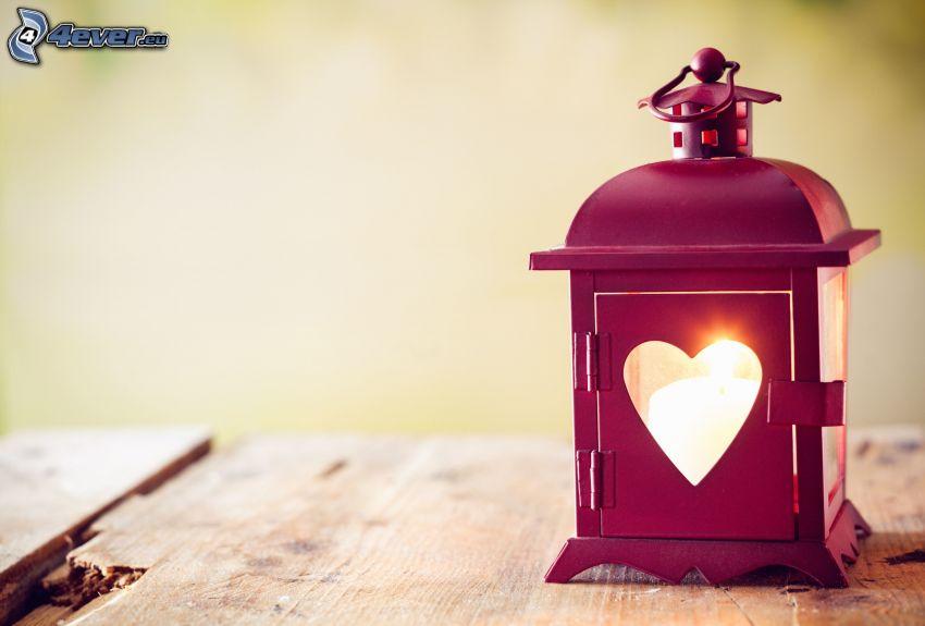 lykta, hjärta