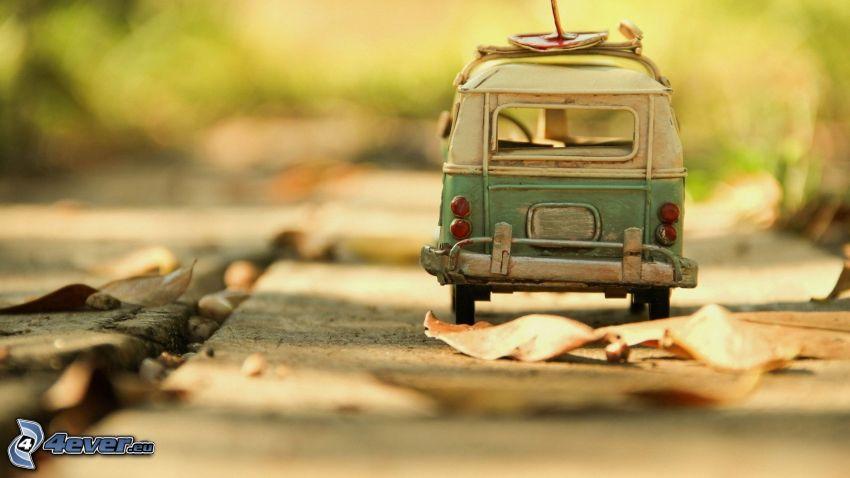 minibuss, torra löv