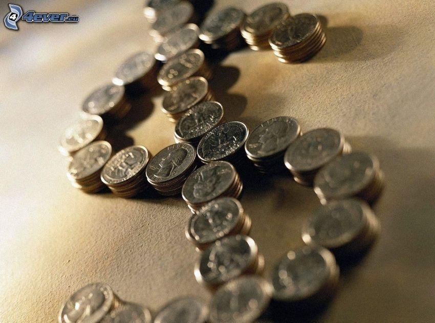 mynt, dollar