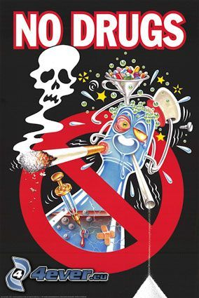 No drugs, droger