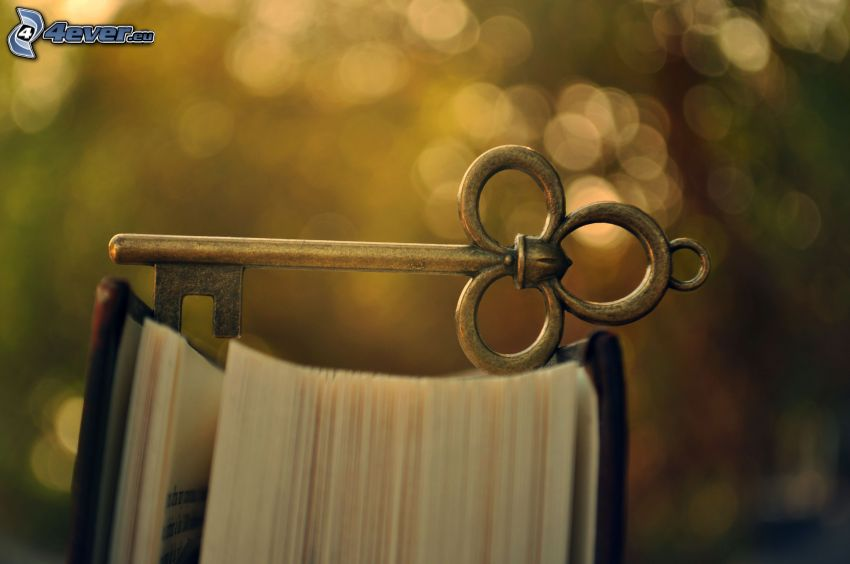 nyckel, bok