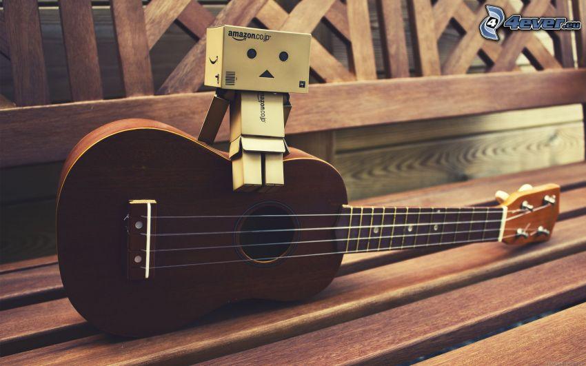 pappersrobot, gitarr