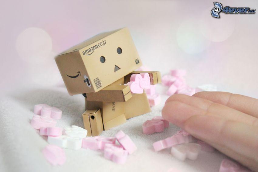pappersrobot, hjärtan