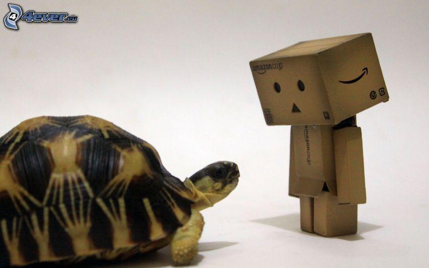 pappersrobot, sköldpadda