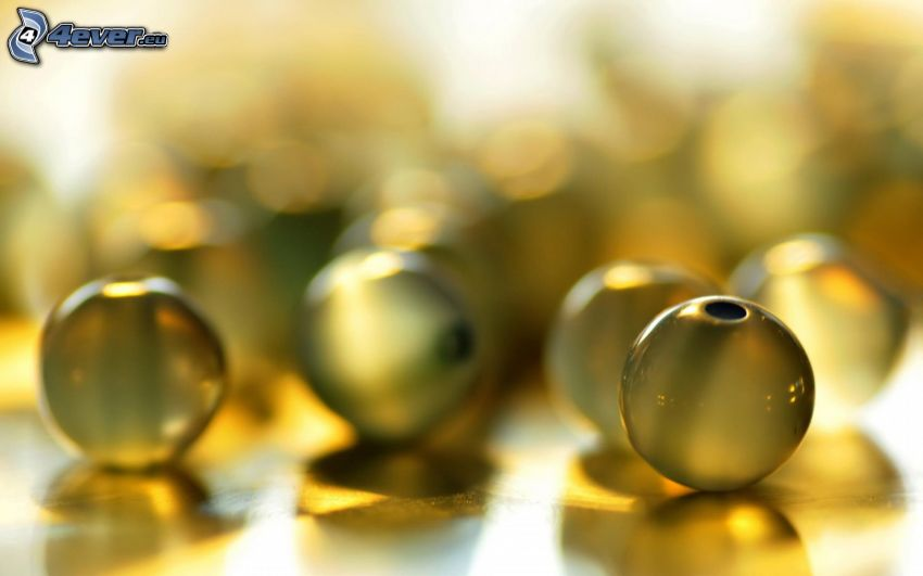 pärlor, glas