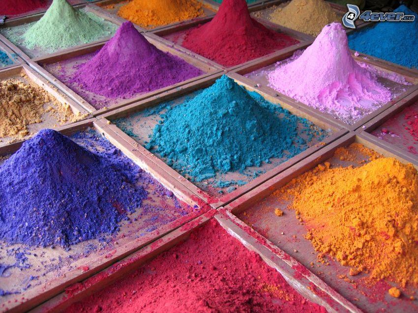 pulver, färger