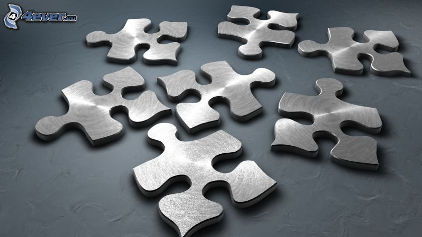 puzzle, metall