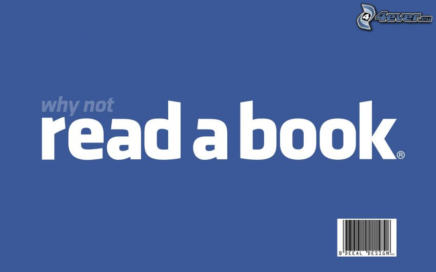 read a book, facebook, parodi