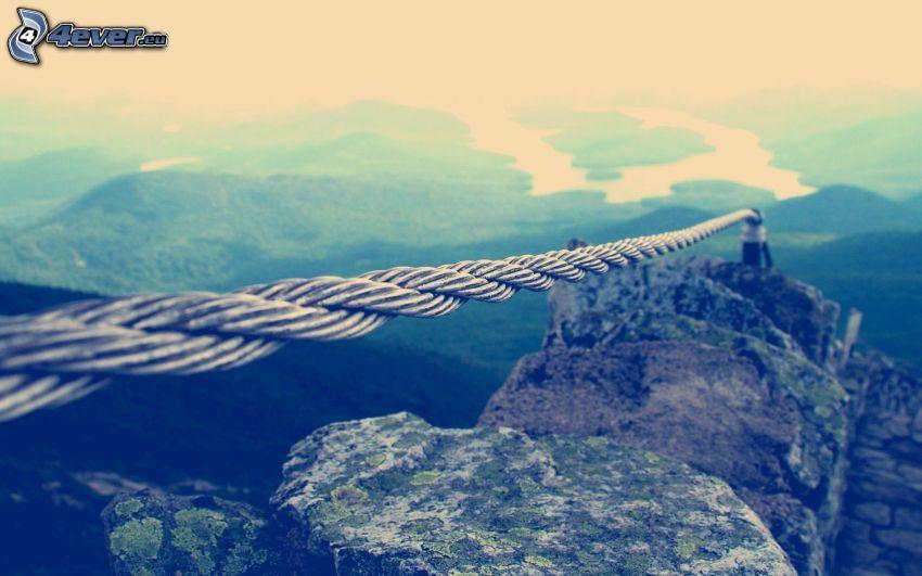 rep, klippor, utsikt