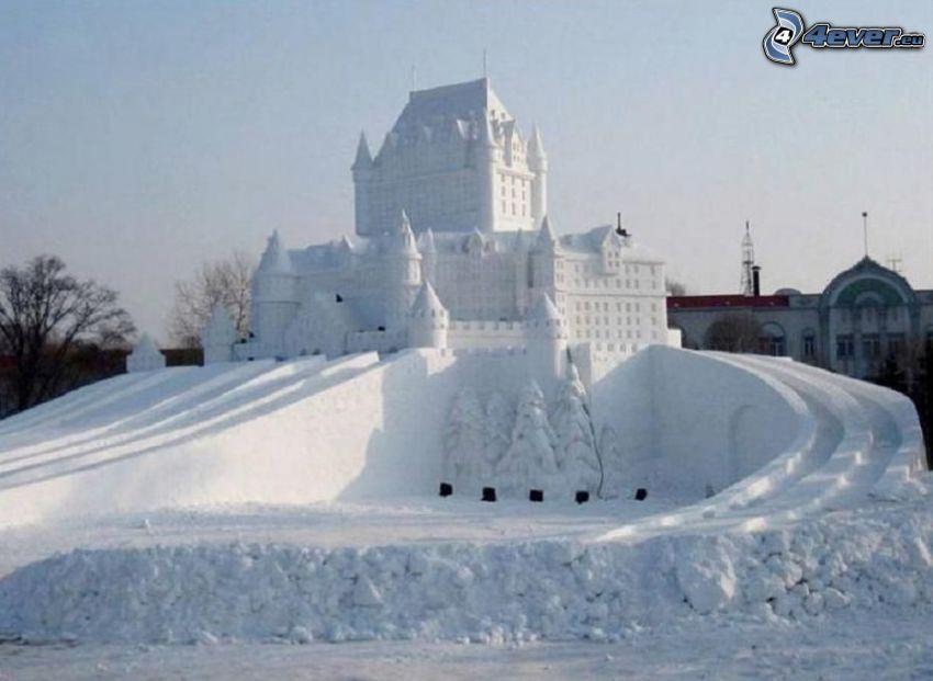slott, snö