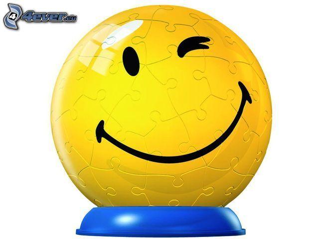 smiley, puzzle, klot