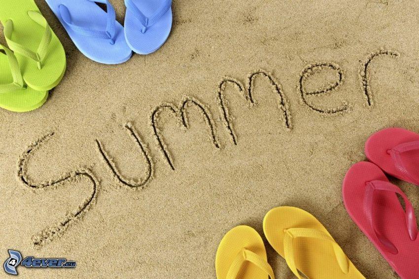 sommar, flip-flops