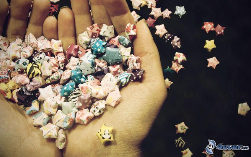 stjärnor, händer