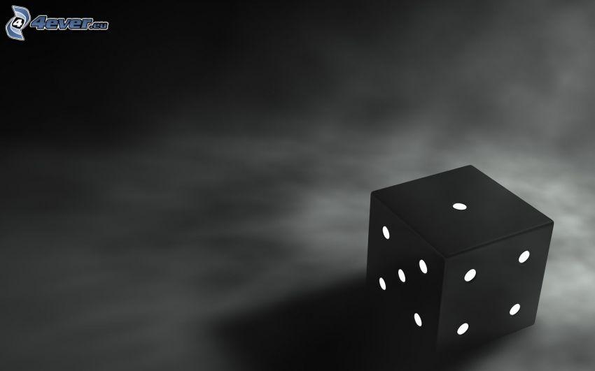 tärning, svart bakgrund