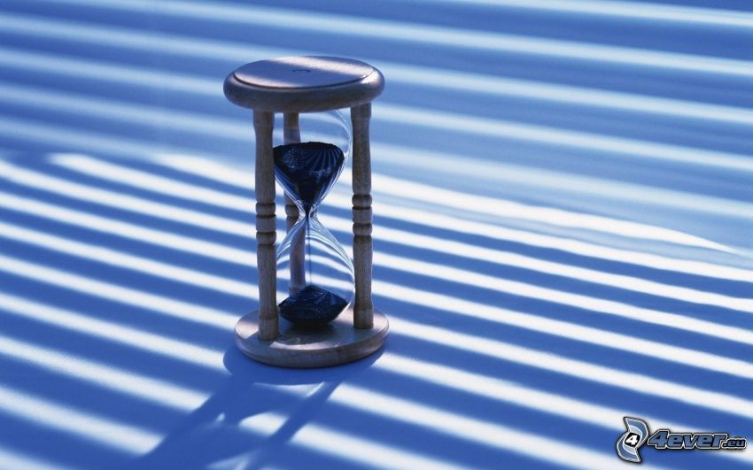 timglas, blå remsor
