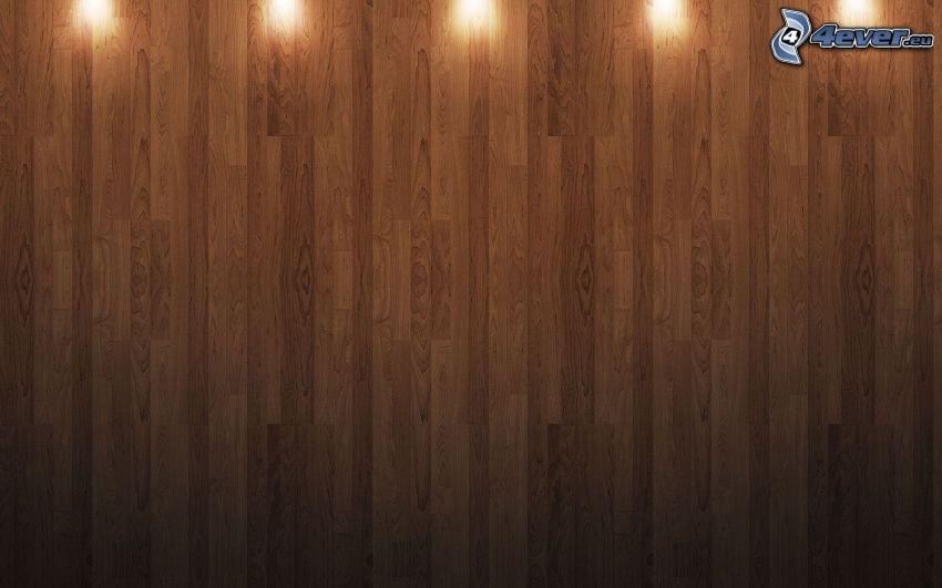 trävägg, belysning