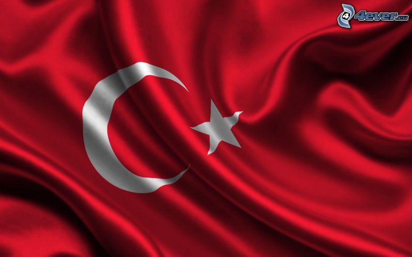 Turkiska flaggan, silke