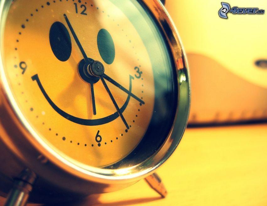 väckarklocka, smiley